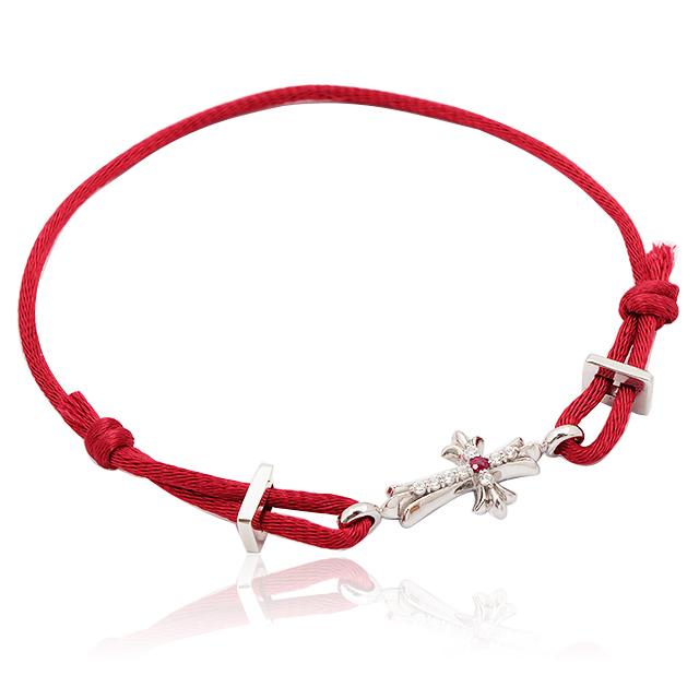 【DUB Collection】Cross Cord Bracelet クロスコード ブレスレット|DUBj-273-2(RD)【ユニセックス】