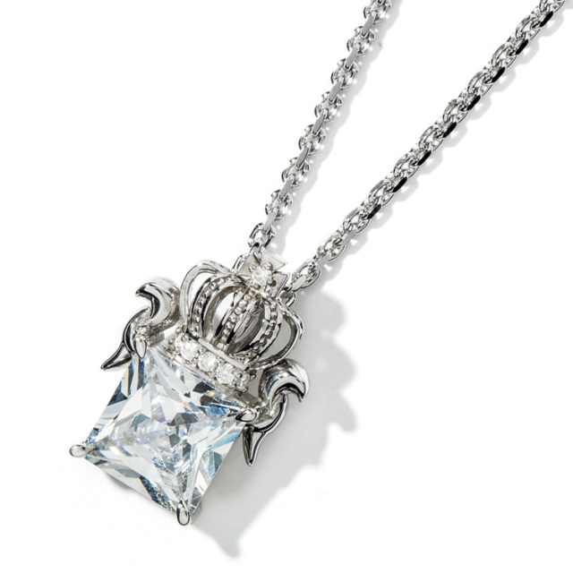 【DUB Collection】Regal crown Necklace リーガルクラウンネックレス DUBj-285(WH)【ユニセックス】