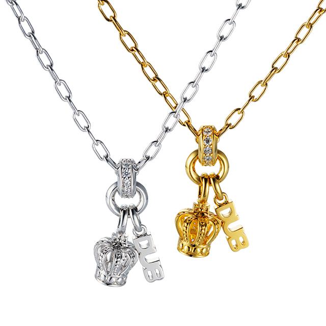 受注生産(オーダー)【DUB collection|ダブコレクション】Sway Crown Necklace スウェイクラウンネックレス DUBj-287-Pair【ペア】