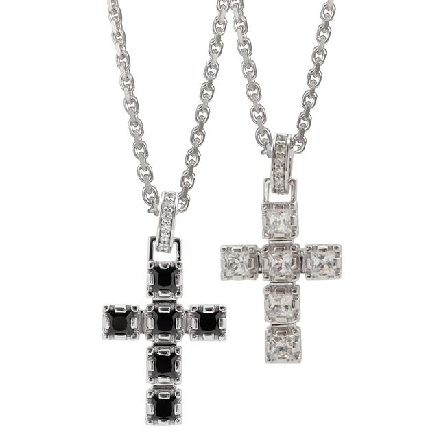 受注生産(オーダー)【DUB collection|ダブコレクション】Crown Cross Pair Necklace クラウン クロス ペア ネックレス DUBj-289-1-2【ペア】