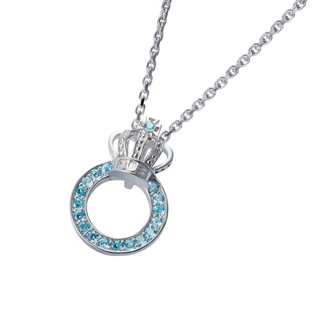 受注生産【DUB Collection│ダブコレクション】Crown ring Necklace クラウンリングネックレス DUBj-296-3【ユニセックス】