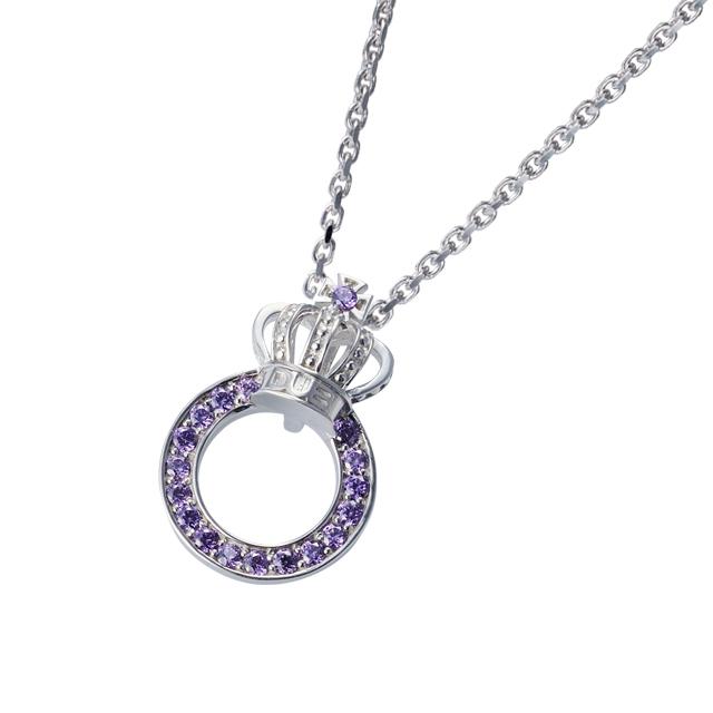 受注生産(オーダー)【DUB Collection│ダブコレクション】Crown ring Necklace クラウンリングネックレス DUBj-296-4【ユニセックス】