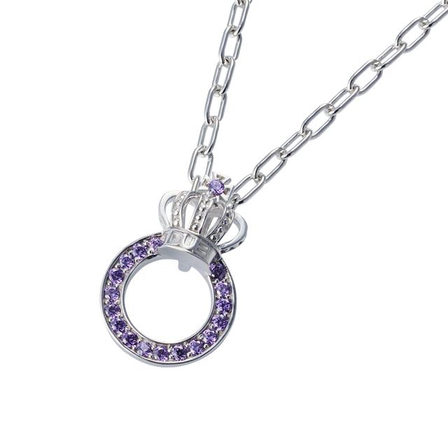 【DUB Collection│ダブコレクション】Crown ring Necklace クラウンリングネックレス DUBj-296-4【ユニセックス】