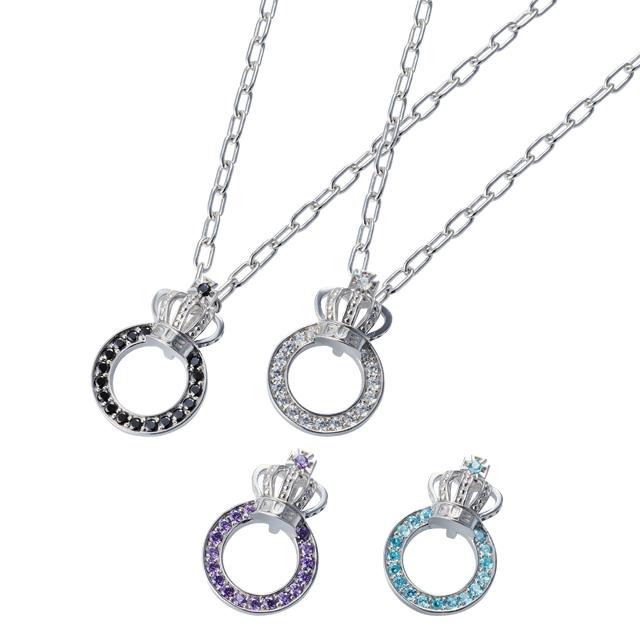 【DUB Collection│ダブコレクション】Crown ring Necklace クラウンリングネックレス DUBj-296【ユニセックス】