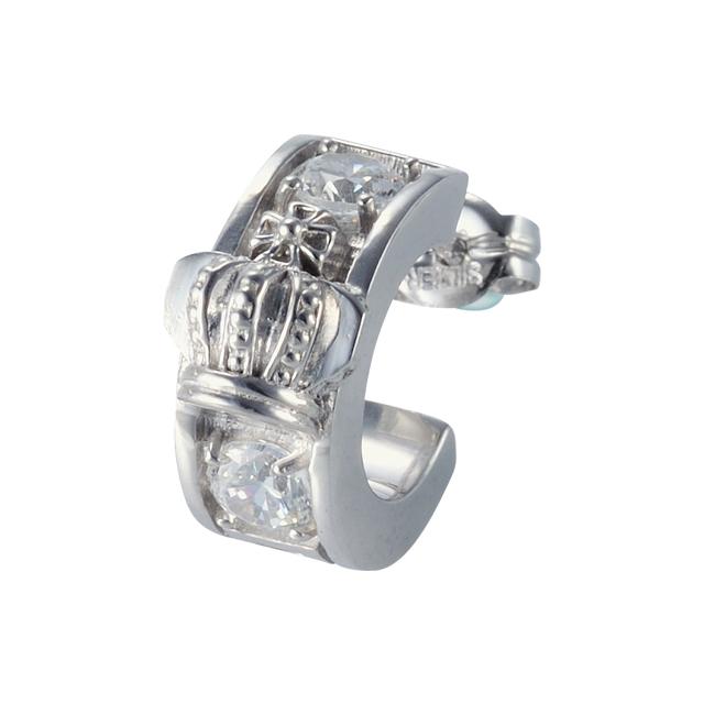 受注生産(オーダー)【DUB Collection│ダブコレクション】Crown hoop Pierced|DUBj-298-2(ホワイトCZ)【ユニセックス】