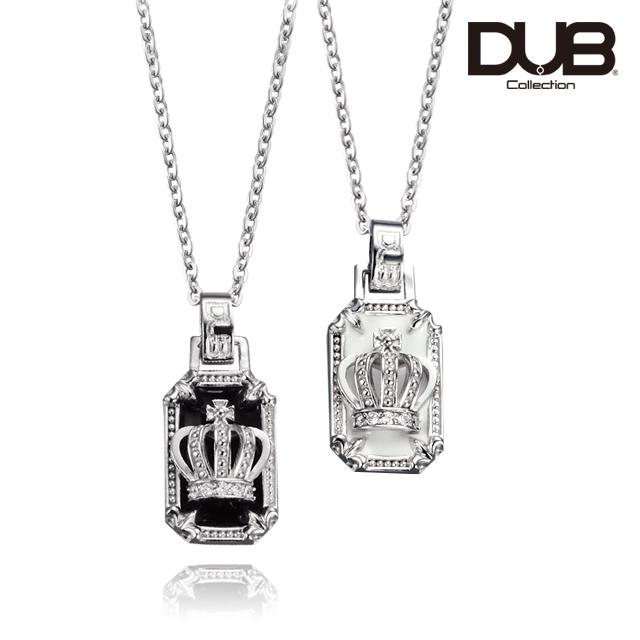 納期約1ヶ月~1ヶ月半【DUB Collection│ダブコレクション】Crown frame Pair Necklace クラウンフレームペアネックレス  DUBj-317-Pair【ペア】