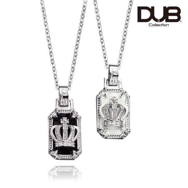 受注生産(オーダー)【DUB Collection│ダブコレクション】Crown frame Pair Necklace クラウンフレームペアネックレス  DUBj-317-Pair【ペア】