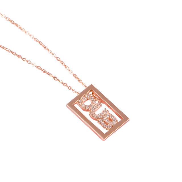 【DUB Sweet|ダブスウィート】DUB logo shine Necklace K10 ダブロゴシャインネックレス DUBjp-1【レディース】