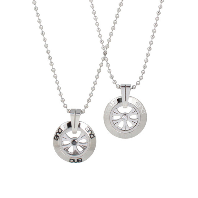 【DUB Collection│ダブコレクション】  DUBJSS-27-Pair stainless necklace ステンレスネックレス/ BKCZ ホイール