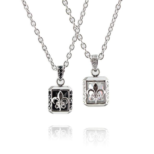 即日発送アイテム【DUB Collection│ダブコレクション】  DUBjss-33WH Lily Stone necklace ステンレスネックレス/CZ