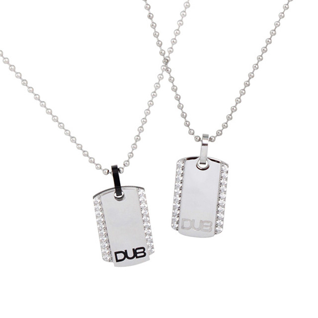 【DUB Collection│ダブコレクション】  DUBJSS-14-Pair stainless necklace ステンレスネックレス ドッグタグ型 2連プレート