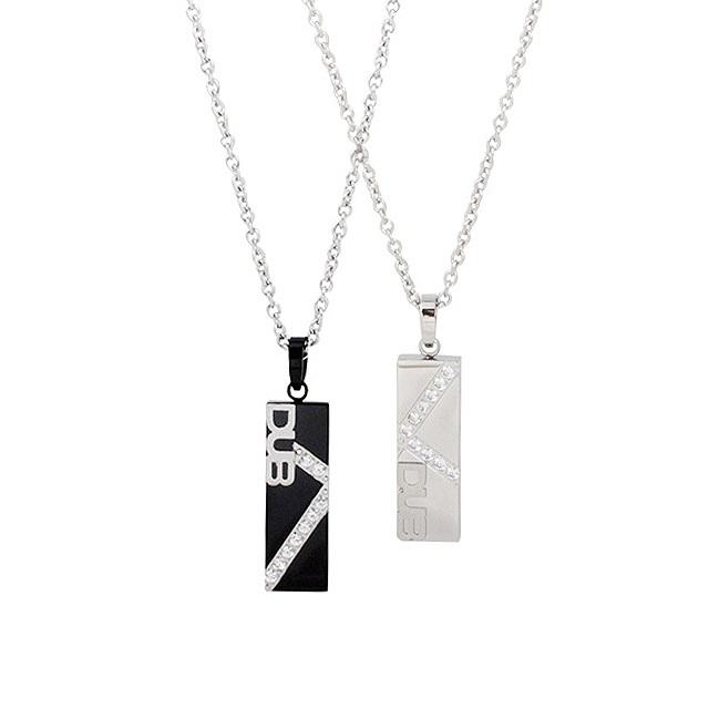 【DUB Collection│ダブコレクション】  DUBJSS-16-Pair stainless necklace ステンレスネックレス WHCZ クロスライン