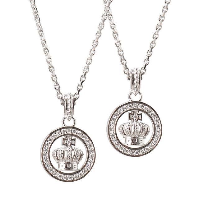 受注生産(オーダー)【DUB公式通販サイト限定】Round Crown Necklace ラウンドクラウンネックレス DUBjt-7-Pair【ペア】