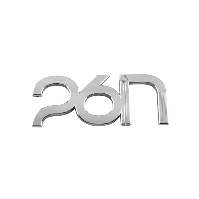 【カーアクセサリー】DUB 26inエンブレムメッキ Japan size「26インチ」のロゴ型