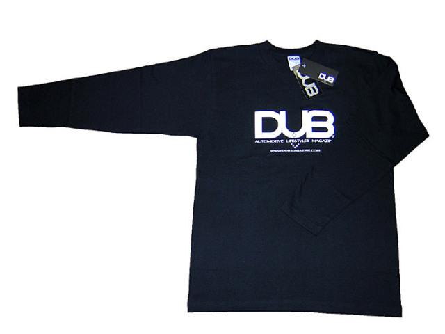 【残りわずか!】DUB ロング T-シャツ 黒 限定ステッカー付き!