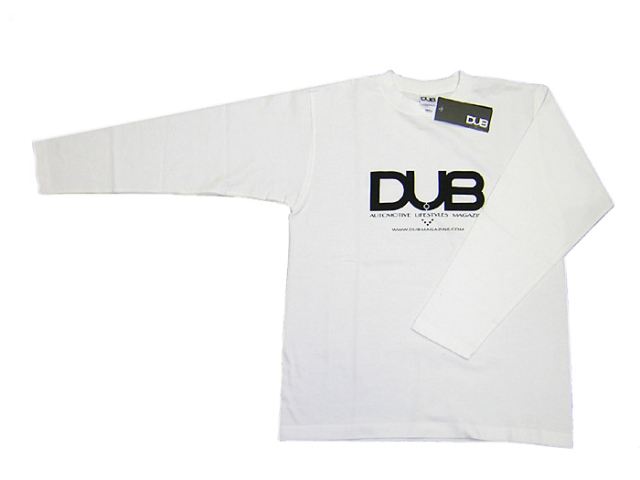 【残りわずか!】DUB ロング T-シャツ 白 限定ステッカー付き!