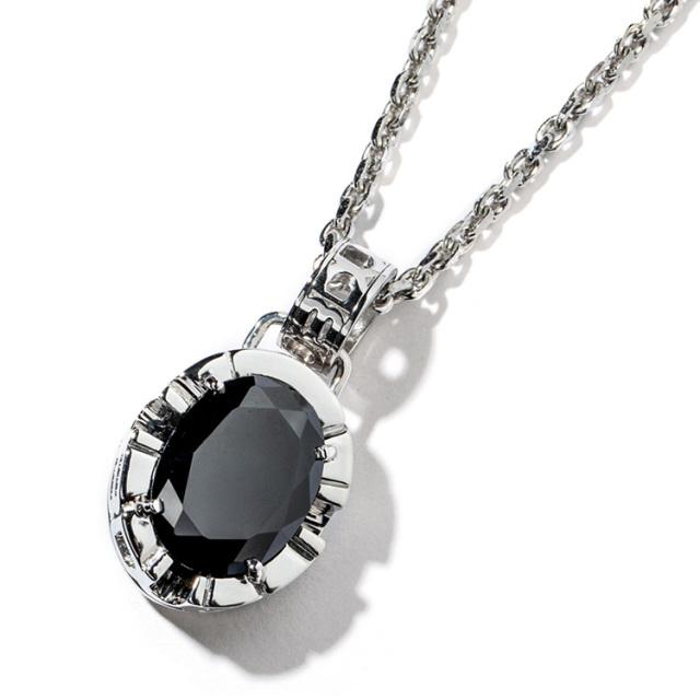 受注生産(オーダー)【DUB collection|ダブコレクション】Side Emblem Stone Necklace Top サイド エンブレム ストーン DUBj-180-1【ユニセックス】
