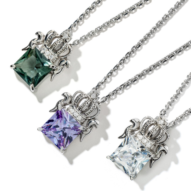 【DUB Collection】Regal Crown Necklace Pair リーガルクラウンネックレスペア DUBj-285(WH)【ペア】
