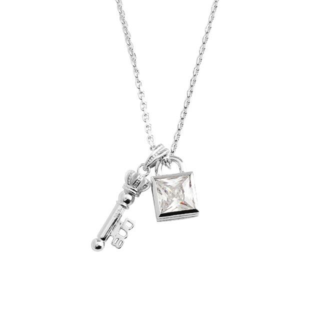 【納期約1ヶ月~1ヶ月半】【DUB Collection│ダブコレクション】Key&Padlock Necklace キーアンドパドロックネックレス DUBj-368-1【ユニセックス】