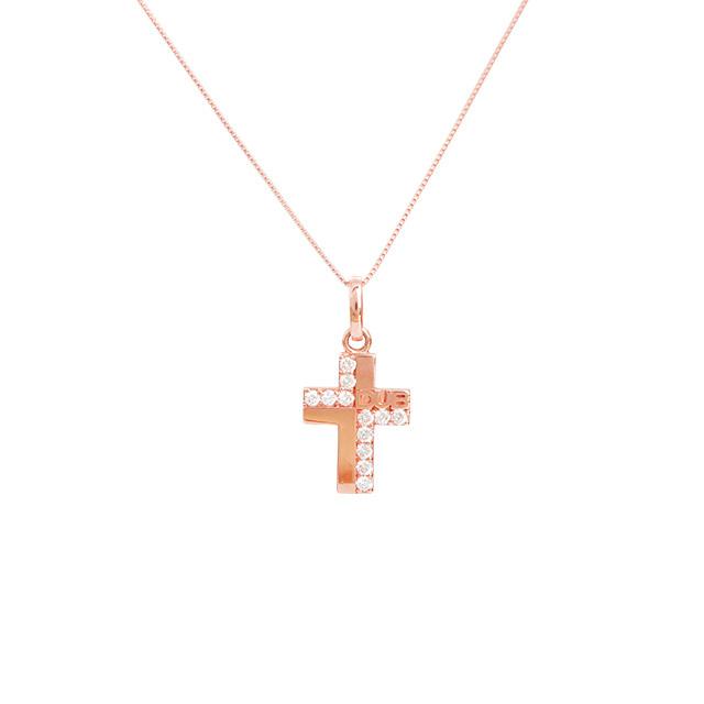 【DUB Collection Sweet|ダブスウィート】Tiny cross Necklace K10 ネックレス DUBjp-9 【レディース】