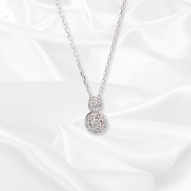 【kikira】Point Top Necklace ポイントトップネックレス WH【小原優花model】 kkr-001-1