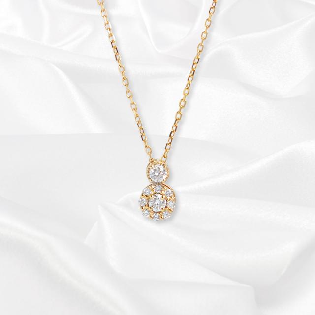 【kikira】Point Top Necklace ポイントトップネックレス GD【小原優花model】 kkr-001-2
