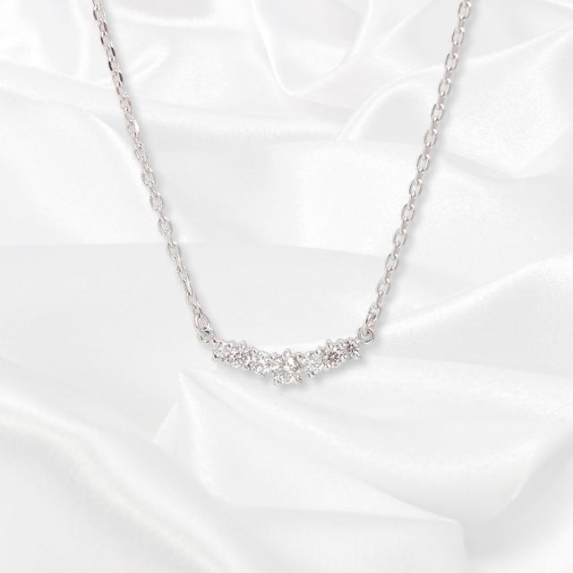 【kikira】Seven Stone Necklace 7粒ストーンネックレス WH kkr-007-1