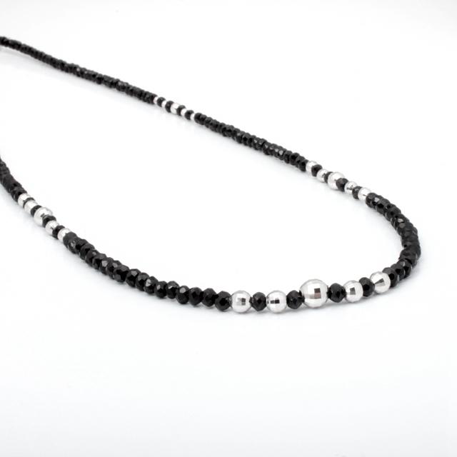 【DUB Luxury|ダブラグジュアリー】Shine Black WG Large Necklace-Thin- シャインブラックホワイトゴールドネックレス|OD-2502【ユニセックス】