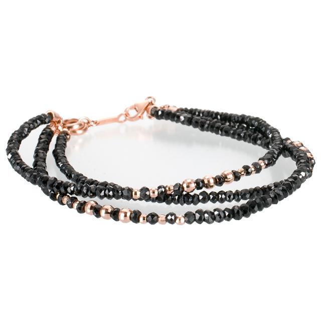 【DUB Luxury|ダブラグジュアリー】Shine Black 3PG Bracelet シャインブラック3連ピンクゴールドブレスレット|OD-2701【ユニセックス】