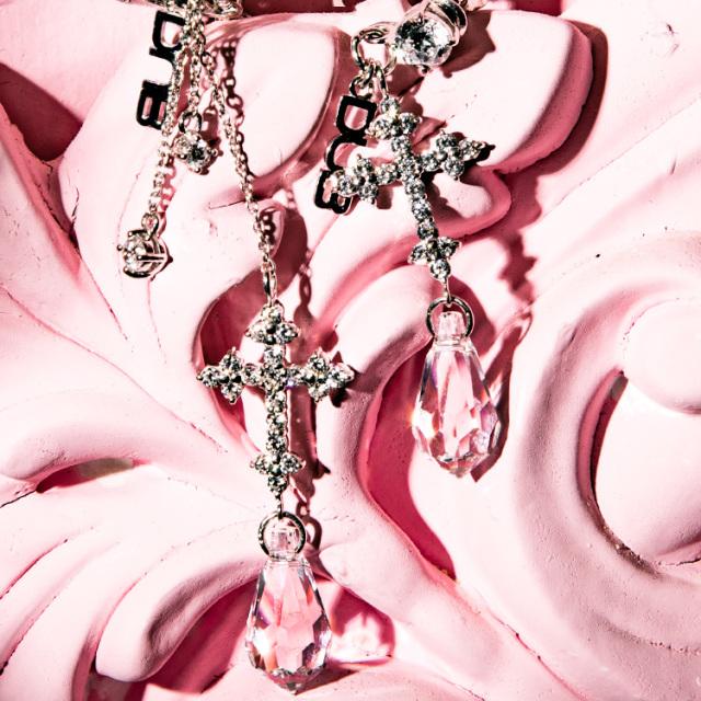 【DUB Collection】桜井莉菜 model Shiny Cross Pierce -Short&long set- シャイニークロスピアス-ショート&ロングセット- DUB-C069-1/DUB-C070-1 【さくりなコラボ】