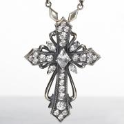 アウトレット【DUB Luxury ラグジュアリーダブ】Antique cross pendant(white) ペンダントトップ【OD-201(WH)】