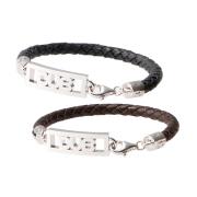 【DUB Collection|ダブコレクション】Plane open work Bracelet ブラックブレス DUBj-208-pair【ペア】