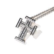 即日発送アイテム【DUB collection|ダブコレクション】Block Cross Necklace ブロッククロスネックレス DUBj-383-1【ユニセックス】