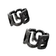 【DUB Collection|ダブコレクション】Emblem ring DUBj-104-4-pair(BK)【ペア】