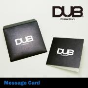【DUB Collection ダブコレクション】DUB original message card メッセージカード【BK/ブラック】