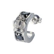 受注生産(オーダー)【DUB Collection│ダブコレクション】Crown hoop Pierced|DUBj-298-1(ブラックCZ)【ユニセックス】