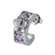 受注生産(オーダー)【DUB Collection│ダブコレクション】Crown hoop Pierced|DUBj-298-4(ライトアメジストCZ)【ユニセックス】