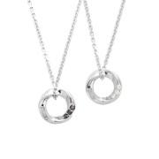受注生産(オーダー)【DUB Collection│ダブコレクション】Eternal Circle Necklace エターナルサークルネックレス DUBj-367-1-2【ペアネックレス】