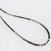 【DUB Luxury|ダブラグジュアリー】Shine Black PG Large Necklace-Thin- シャインブラックピンクゴールドネックレス OD-2501【ユニセックス】
