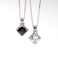"""【DUB Collection ダブコレクション】Side emblem stone""""square""""Necklace DUBj-206-1-2 pair(ペア)【送料・代引き手数料無料】"""