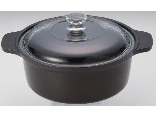 遠赤外線ミニポット(強化硝子蓋付)《スーパーラジエントヒーターに最適!熱効率に優れた専用鍋!》