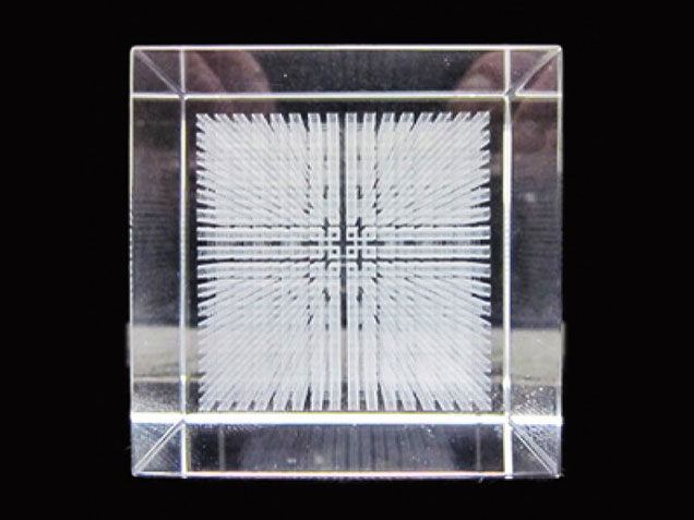 ダ・ヴィンチキューブ「 メサイア 」《クリスタルガラス》(ダヴィンチ・ダビンチ)