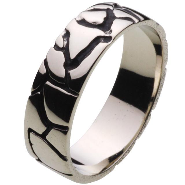 cenote r5037 【ホワイトメタルアクセサリー】 クラックウォールリング
