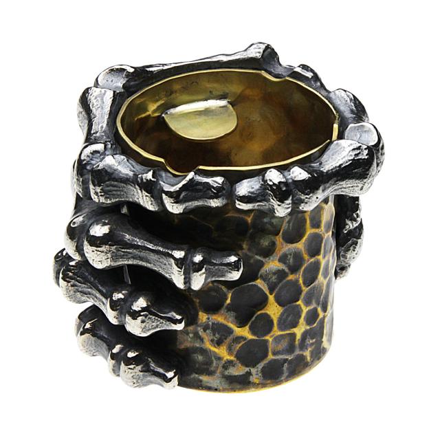 cenote s0048 【シルバーアクセサリー】 ボーンハンド純銀灰皿