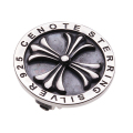 cenote e3003 【シルバーアクセサリー】 フローラルクロスシルバーイヤークリップ
