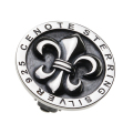 cenote e3004 【シルバーアクセサリー】 百合の紋章シルバーイヤークリップ