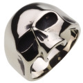 cenote r5032 【ホワイトメタルアクセサリー】 スカルマスクリング