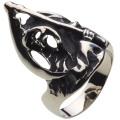 cenote r5036 【ホワイトメタルアクセサリー】 死神スカルリング