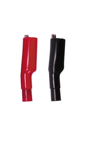 ワニグチクリップ(赤1個、黒1個) Kaise(カイセ)
