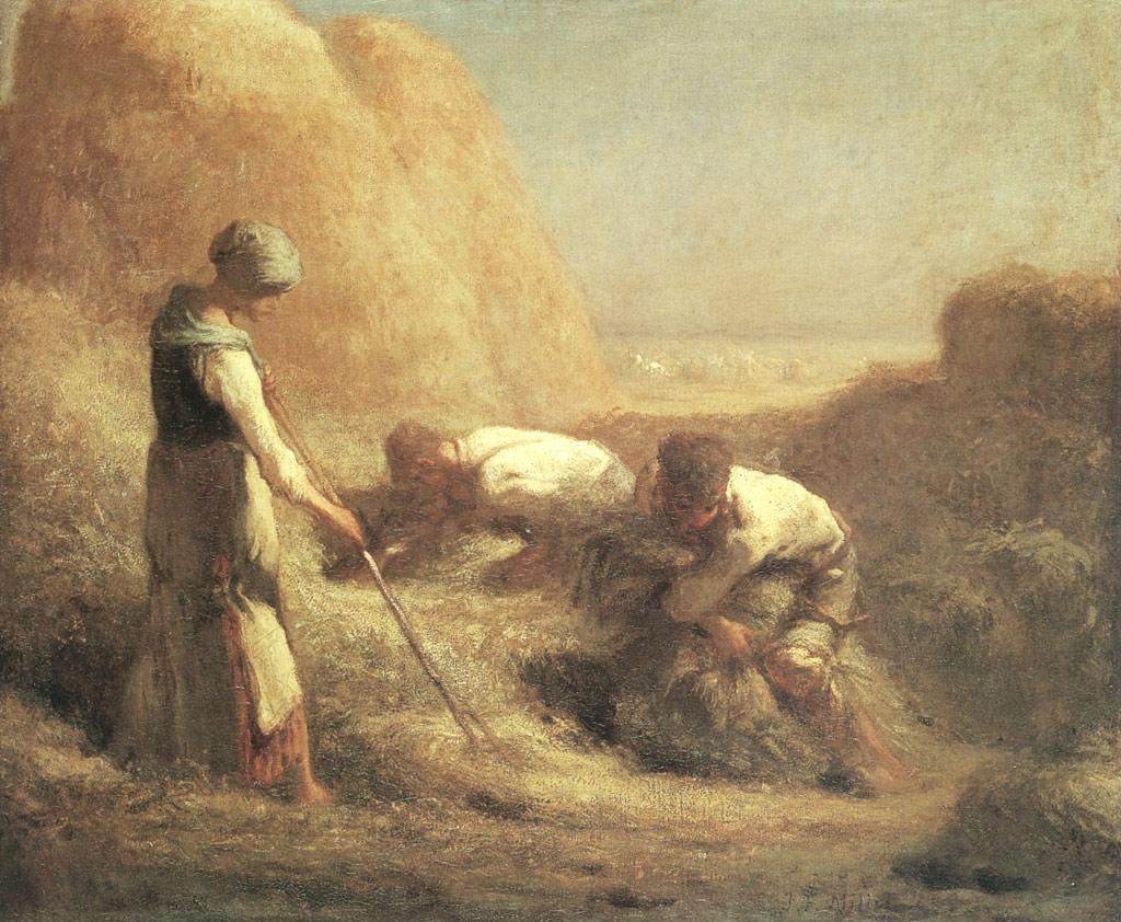 ジャン=フランソワ・ミレー干し草を束ねる農夫たち